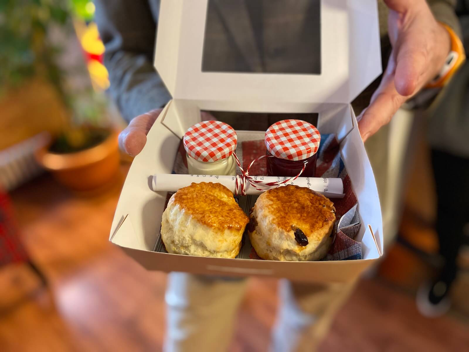 Cream Tea Box mit zwei Scones